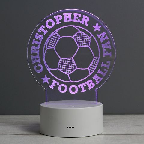 Football,LED,Colour,Changing,Desk,Night,Light,Football LED Colour Changing Desk Night Light