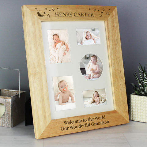Little,Stars,10x8,Wooden,Photo,Frame,Little Stars 10x8 Wooden Photo Frame