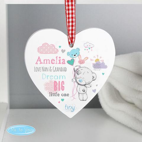 Tiny,Tatty,Teddy,Dream,Big,Pink,Wooden,Heart,Decoration,Tiny Tatty Teddy Dream Big Pink Wooden Heart Decoration