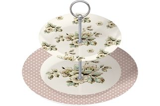 Katie Alice Cottage Flower 2 Tier Cake Stand - product images  of