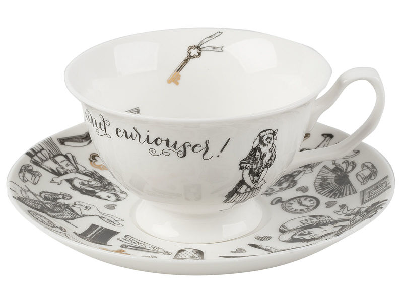 Victoria And Albert Alice In Wonderland Cup And Saucer - product images  of