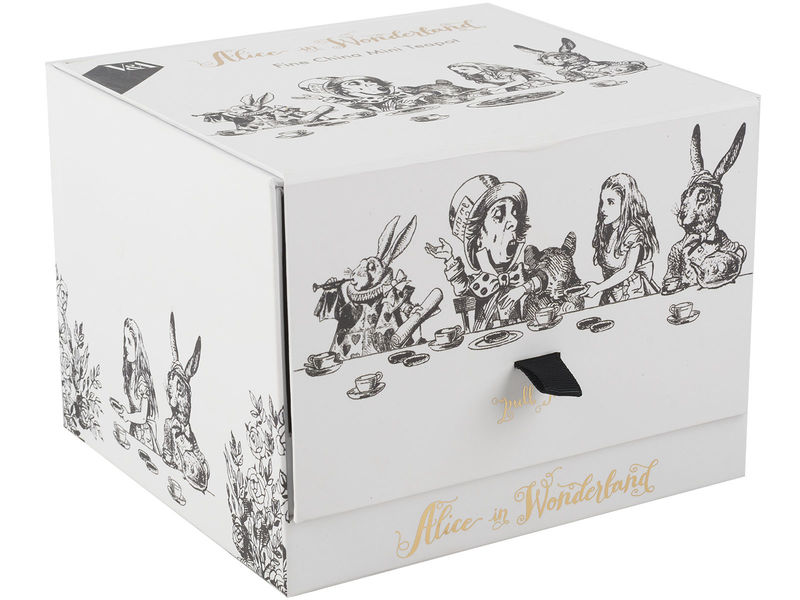 Victoria And Albert Alice In Wonderland Mini Teapot - product images  of