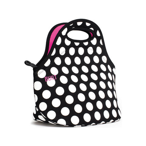 BUILT,Gourmet,Getaway,Lunch,Tote,Big,Dot,Black,Tote Bag, Polka Dot, Lunch Bag, BUILT