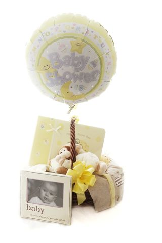 Lemon,Baby,Shower,Gift,Basket,Baby Shower Gifts, Baby Gift Hamper