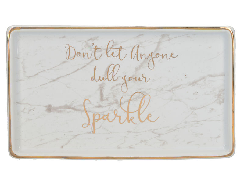 Ava & I Rectangle Trinket Dish - Don't Let Anyone Dull Your Sparkle - product image
