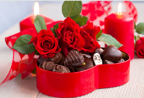 Heart,of,Chocolates,and,Roses, Bouquet, Romance, Valentines, Gift