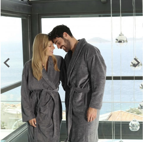 "Luxury,Grey,Gown,""For,Him"",Dressing Gown, Gift for Him, Christmas Gift, Grey Gown"
