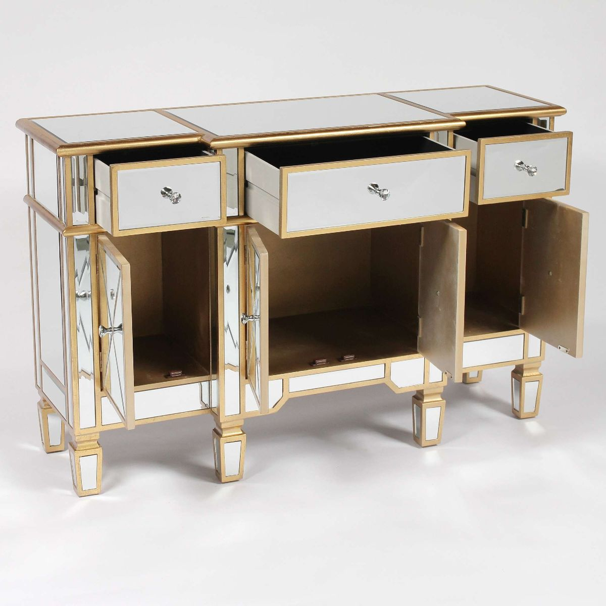 Antique Mirrored Gold Side Cabinet - product images  of