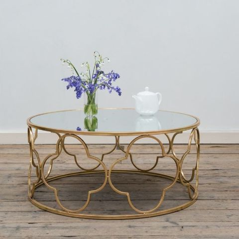 Gold,Leaf,Nest,of,Tables,Circular Nest of Tables, Nest of Tables, Gin Shu Parisienne Tables, Gold tables
