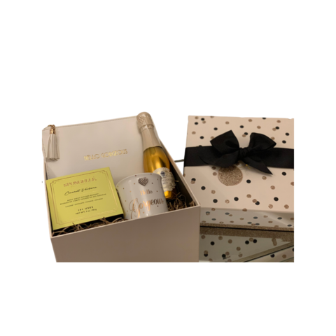 Hello,Gorgeous,and,Prosecco,Gift,Box,Spongelle, Christmas, Gifts, Gift Hamper, Purse, Gifts for Her