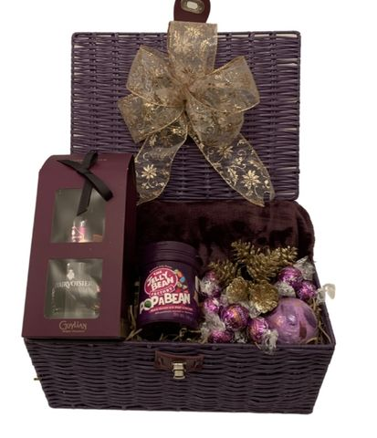 Courvoisier,Purple,Hamper,Gift for Him, Gift for her, Hampers, Gift Hamper, Courvoisier  gift, Chocolate hamper, Gifts, Birthday Gift, Christmas