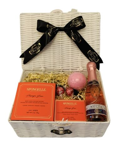 Papaya,and,Pink,Moscato,Gift,Hamper,Spongelle, Christmas, Gifts, Gift Hamper, Moscato, Gifts for Her, Papaya Spongelle