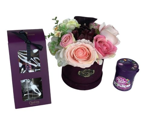 Purple,Love,Bouquet,and,Courvoisier,Romance Bouquet, Valentines Day, Valentines Gifts, Flowers, Mother's Day