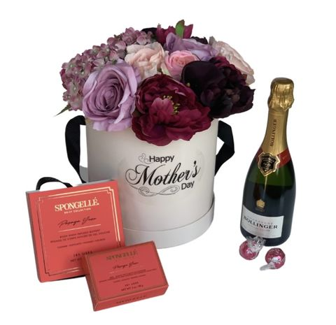 Classic,Blush,Mother's,Day,Hat,Box,and,Chocolates,Mother's Day, Hampers, Mother's Day Gift, Gifts, Gifts for Her