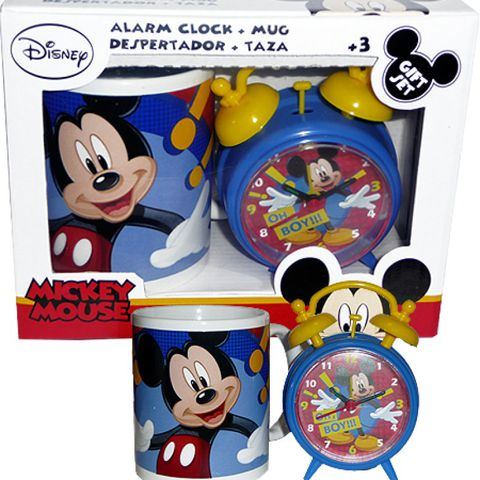 Mickey,Mouse,Mug,and,Alarm,Clock,Gift,Set,Gifts, Disney Gift, Gifts for Children