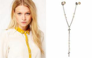 CROSS,AND,PEARL,COLLAR,TIP,NECKLACE