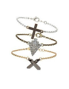 CROSS AND CRYSTAL MULTI PACK BRACELET - product image