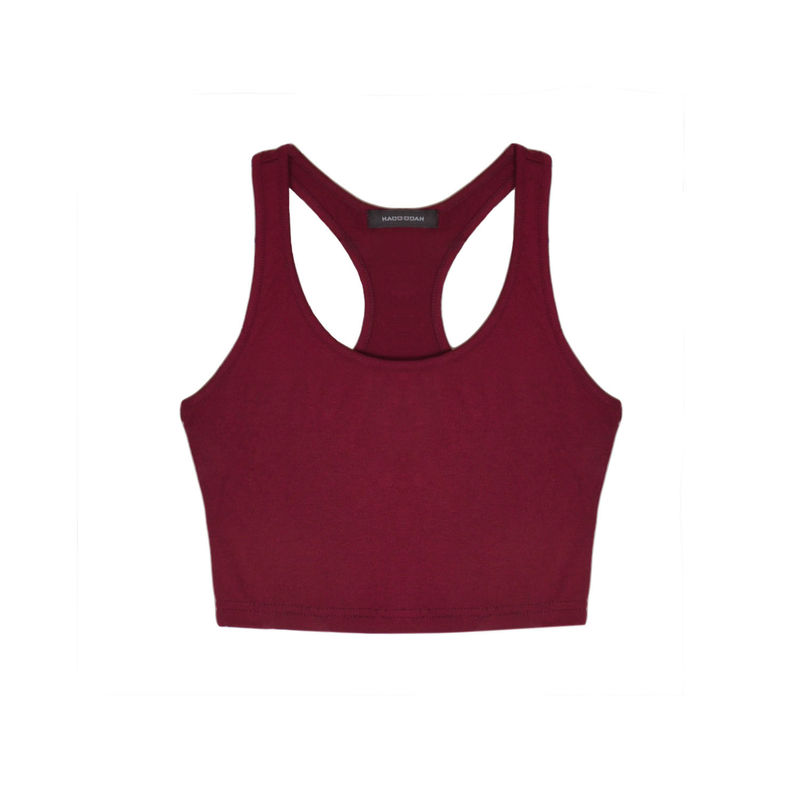 CROP PLAIN VEST - product image