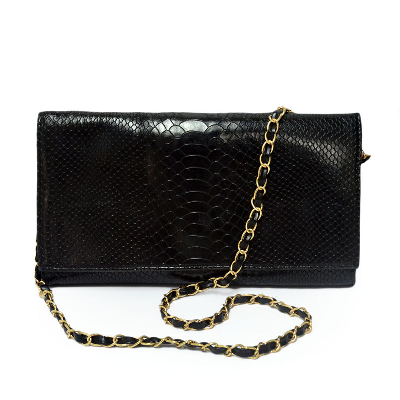 CROCODILE PRINT CLUTCH BAG - product image
