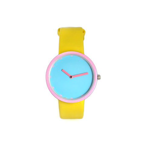 CONTRAST,COLOUR,WATCH,CONTRAST COLOUR WATCH, TWO COLOUR WATCH,TWO TONE WATCH,PINK AND YELLOW WATCH, BLUE AND PINK WATCH, YELLOW AND BLUE WATCH,PURPLE AND PINK CONTRAST WATCH