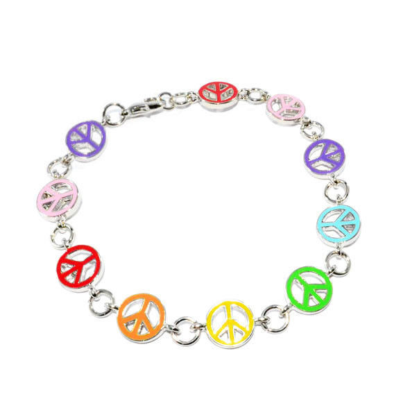 COLOURFUL PEACE LOGO BRACELET - product image