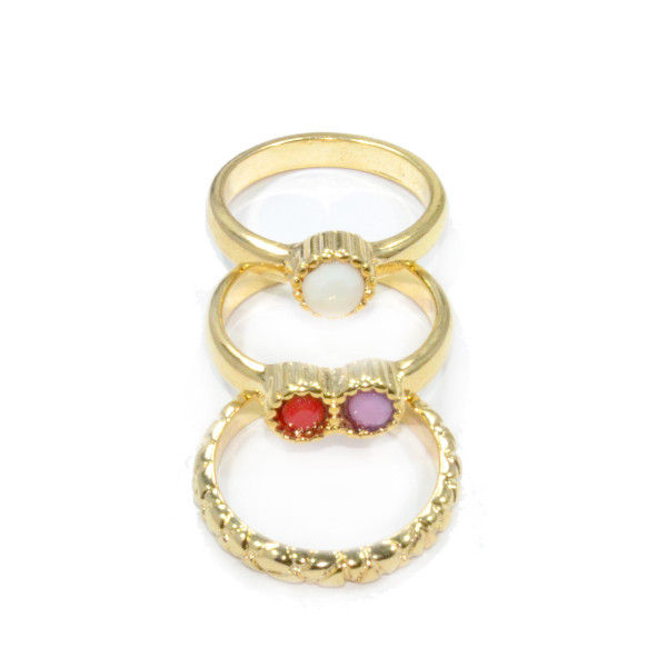 COLORFUL GEM MULTI PACK RING - product image