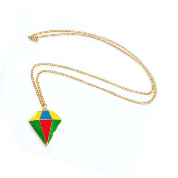 COLOURFUL DIAMOND SHAPE NECKLACE - product image