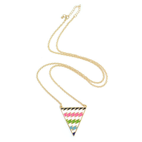 COLOURFUL,BOLT,TRIANGLE,NECKLACE