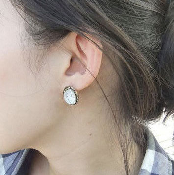 CLOCK EARRINGS - product image