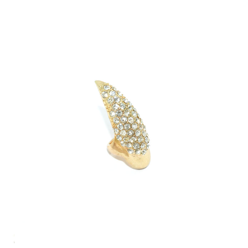 CLEAR CRYSTAL NAIL RING - product image