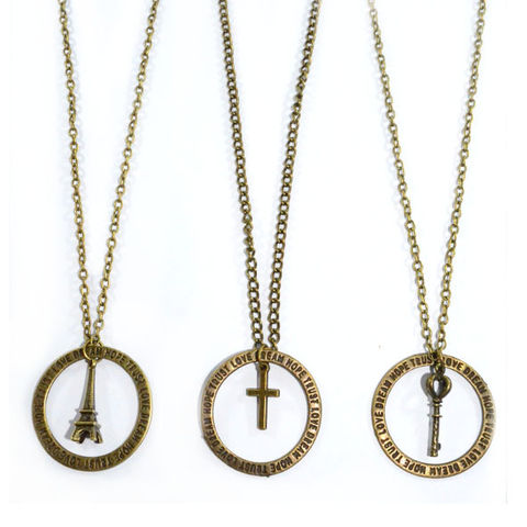 PRAY,FOR,HUMANTITY,CHARM,NECKLACE