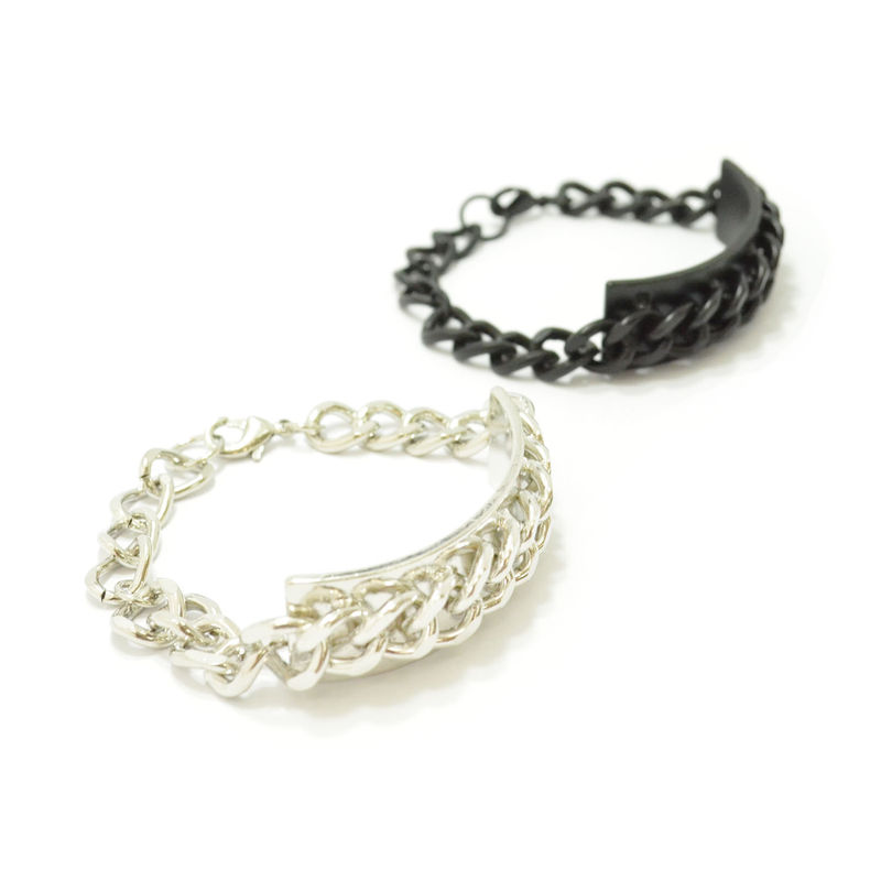 CHAIN AND PLATE BRACELET - product image