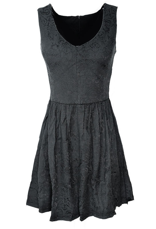 BLACK JACQUARD DRESS - product image