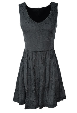 BLACK,JACQUARD,DRESS