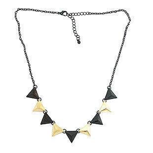 BLACK AND GOLD MULTI TRIANGLE NECKLACE - product image