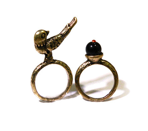 BIRD AND CRYSTAL MULTI PACK RING - product image