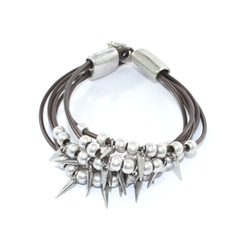 BEADS AND SPIKES MULTI STRAP BRACELET - product image