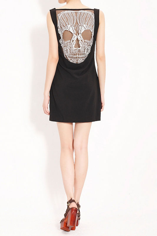 BARE BACK SKULL DRESS - product image