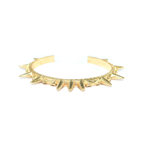 AZTEC,SPIKE,GOLD,BANGLE
