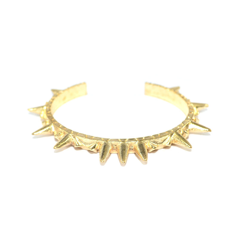 AZTEC SPIKE GOLD BANGLE - product image