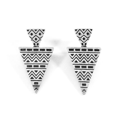 AZTEC,PATTERN,DOUBLE,TRIANGLE,EARRINGS,TRIANGLE EARRING, AZTEC PATTERN EARRINGS, VINTAGE AZTEC TRIANGLE EARRINGS,DOUBLE TRIANGLE EARRINGS,VINTAGE GOLD TRIANGLE EARRING,VINTAGE GOLD AZTEC PATTERN EARRINGS,VINTAGE GOLD VINTAGE AZTEC TRIANGLE EARRINGS,VINTAGE GOLD DOUBLE T