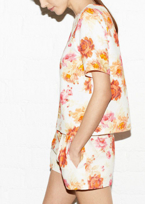 AUTUMN FLORAL TOP - product image