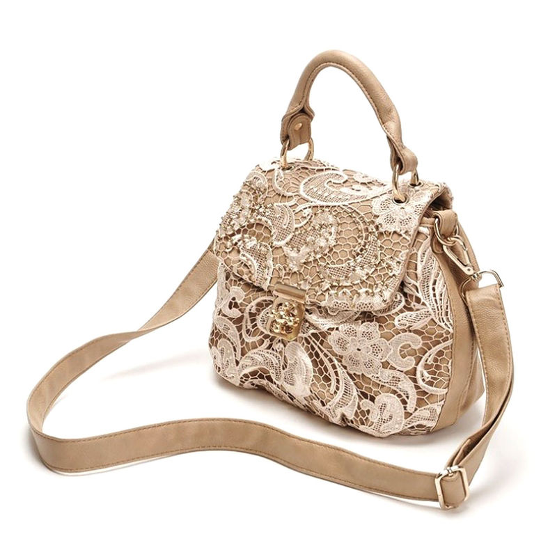 LACE FLOWER SADDLE BAG - product image