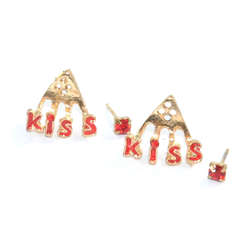 KISS WITH CRYSTAL EARRING - product image