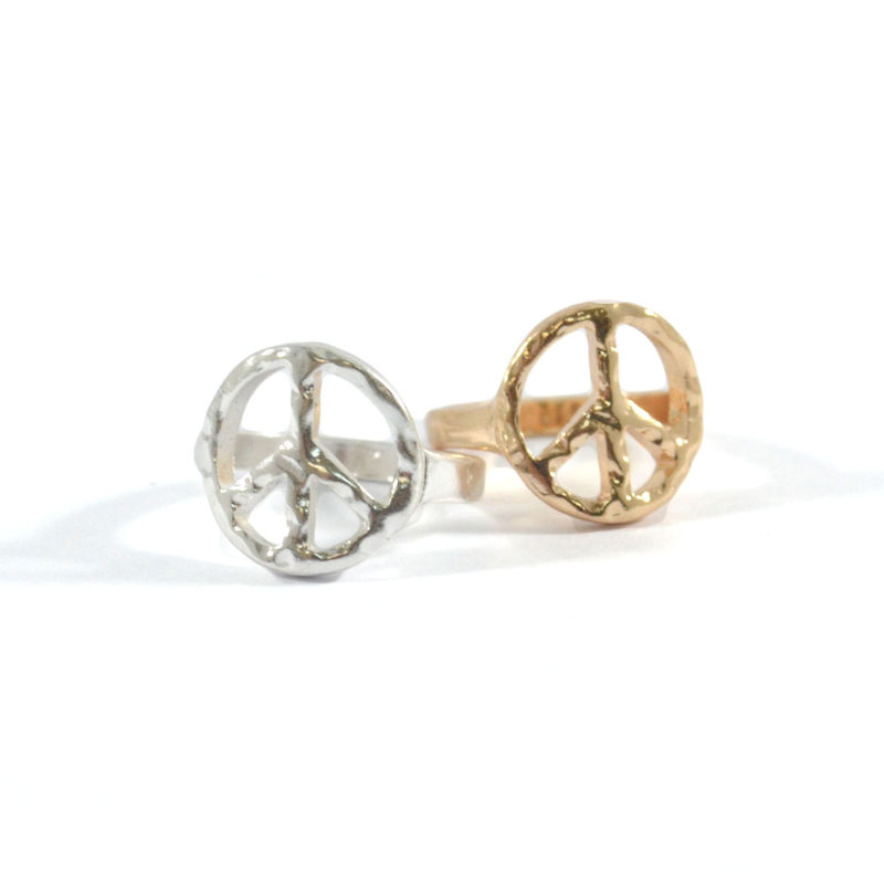 IRREGULAR PEACE LOGO RING - product image