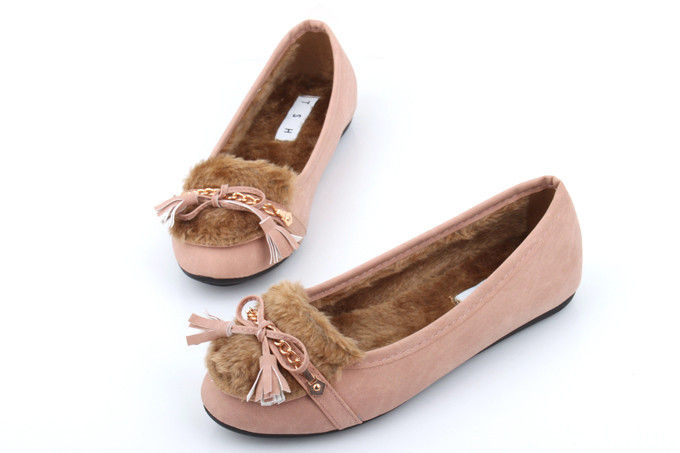 INNER FUR PINK FLATS - product image