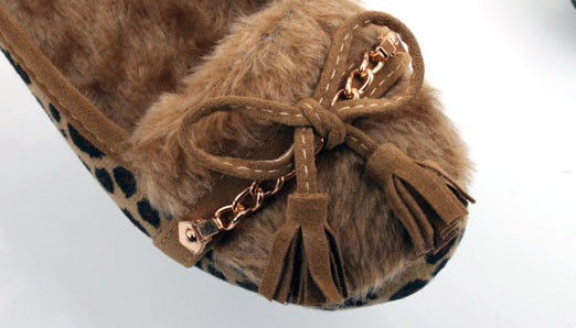 INNER FUR LEOPARD FLATS - product image