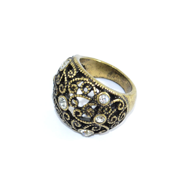 HOLLOW SWIRL PATTERN RING - product image