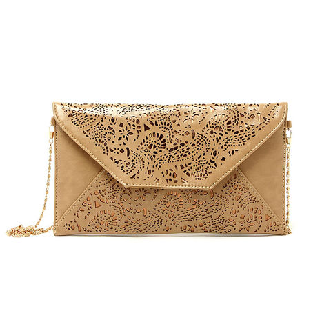 HOLLOW,FLORAL,PATTERN,ENVELOPE,SHOULDER,BAG