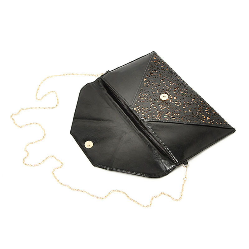 HOLLOW FLORAL PATTERN ENVELOPE SHOULDER BAG - product image